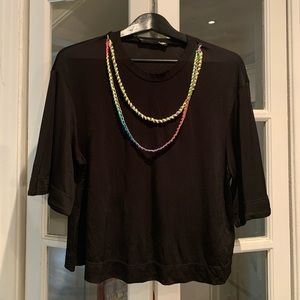 Authentic Love Moschino black top with neon chain